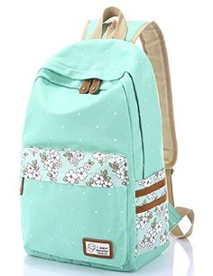 Leaper Casual Style Polka Dots Canvas/Oxford Laptop Backpack/ School Bag/ Travel Daypack/ Handbag with Laptop Lining