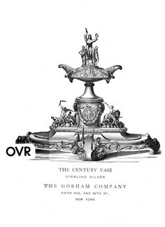 Drawing of Century Vase, George Wilkinson and Thomas Pairpoint for Gorham, c. 1876, silver