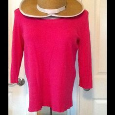 DARLING HOT PINK TOP  PERFECT FOR ALL SEASONS Beautiful knit top. Gorgeous color. Pair with white, black, navy, etc Tops