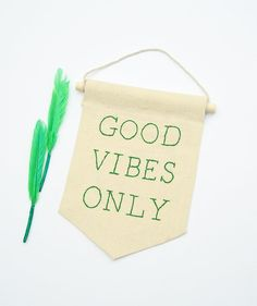 #embroidered #minibanner  #GoodVibesonly by ArtandAroma