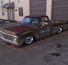 Slammed Chevy Truck