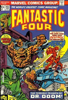 Fantastic Four #143 cover by Gil Kane