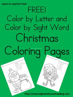 Free Christmas worksheets for kids -Great for beginning readers!