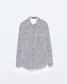 STRIPED OVERSIZE SHIRT WOMAN | ZARA