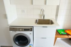 Faucet: Oras Cubista with a smart valve for a washing machine