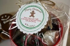 Gingerbread man decorating cookie kit. We deliver these to friends and family during the holidays. It's an activity and a treat all in one! Love it!!!