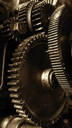 Detail of Machine Gears - Slater Mill Museum by Slater Mill, via Flickr
