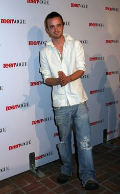 Would his ripped jeans and popped collar get lost in the shuffle of changing fashions? | Aaron Paul Was Secretly The Best Thing About The Early 2000s
