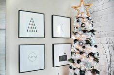 46 Lovely Silver And White Christmas Tree Decorations Ideas. Everywhere you look this time of year you'll see Christmas tree decoration ideas. The good news is that there are many different options . White Christmas Tree Decorations, Elegant Christmas Trees, Modern Christmas Decor, Mini Christmas Tree, Black Christmas, Scandinavian Christmas, Christmas Home, Christmas Crafts, Christmas Stuff