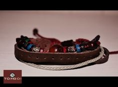 URBAN BANDIT BRACELET- AUTHENTIC LEATHER WITH STONE AND TRIBAL BEADS