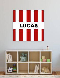 Voor de echt fans uit Eindhoven een canvas muurdecoratie in eigen clubkleuren. Ideaal voor de babykamer of kinderkamer. Deze decoratie wordt GRATIS voor jou gepersonaliseerd (bijv. met je voor- of achternaam. Verkrijgbaar in diverse afmetingen.