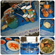 Finding Nemo Family Movie Night - Ideas for food, crafts and activities with links to recipes and freebies - from Speaking of Disney...