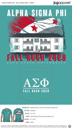 Alpha Sigma Phi Fall Recruitment Shirt #alpha #sigma #phi #fall #recruitment #shirt #house #sketch Custom Design Shirts, Shirt Designs, Fall Designs, House Sketch, Sorority And Fraternity, Color Shorts, Warm Grey, Comfort Colors, Autumn Theme