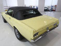 The 1967 Ford Mustang Convertible featured here is finished in the stunning factory color combination of Springtime Yellow over a black interior and black power folding convertible top. Mustang Convertible For Sale, Black Power, North America, Vehicles, Car, Vehicle, Tools