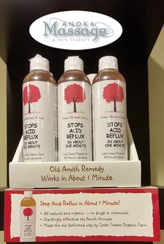 This effective fast-acting natural acid reflux remedy was discovered by the Amish while they were still in Europe and brought to this country sometime in the 1880's. A carefully balanced mixture of certified organic unfiltered raw apple cider vinegar, juice from the ginger plant and just the right amount of all natural garlic juice in special combination so as to achieve almost instant relief from acid reflux and heartburn. Salt and gluten free. Acid Reflux Relief, Stop Acid Reflux, Acid Reflux Remedies, Home Remedies For Gerd, Natural Antacid, Garlic Juice, Ginger Plant, Raw Apple Cider Vinegar, Reflux Diet