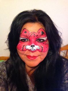 Face Painting pink cat