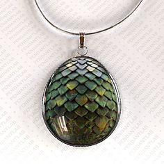 Green Dragon Egg Pendant Game of Thrones Inspired by PendantLab, $19.95