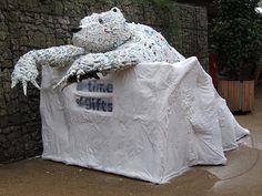 Plastic bag polar bear!