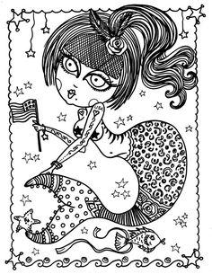 INSTANT DOWNLOAD BURLESQUE PIN UP MERMAIDS 5 Pages  Digital Coloring Page Crafting Page Card Making Scrap Booking Page Digital Stamp  You will be able to instantly download these prints. After checkout youll be given a direct link to download immediately. There is no limit to the number of times a file can be downloaded so print as many times as you like.  Print it out on cardstock to color and be the artist. Simply grab some colored pencils, crayons or markers and create!  Size: Print any…