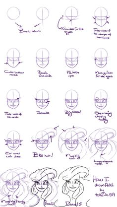 49 Trendy drawing disney characters step by step deviantart - ART Drawing Drawing Cartoon Characters, Cartoon Drawings Of People, Cartoon Girl Drawing, Disney Face Characters, Disney Princess Drawings, Disney Drawings, Cute Drawings, Drawing Disney, Drawing Ariel