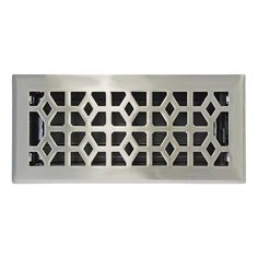 Accord Select Marquis Satin Nickel Steel Floor Register (Duct Opening: x Outside: x Floor Vent Covers, Wall Vent Covers, Register Covers, Black Floor, White Ceiling, Updated Kitchen, Kitchen Updates, Nickel Finish, Brushed Nickel