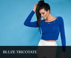 Bluze tricotate - PrettyModa.ro Crop Tops, Pretty, Women, Fashion, Tricot, Moda, Fashion Styles, Fashion Illustrations, Cropped Tops