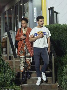 Escorting her: In a rare show of PDA, the British (born Tahliah Barnett) also . Fashion Art, Mens Fashion, Fashion Outfits, Emily Ratajkowski Outfits, Shia Labeouf, Stylish Mens Outfits, Retro Outfits, Aesthetic Girl, Style Me