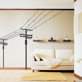 Fange Removable Telephone Poles Electric Poles and Birds Repositional Art Mural Vinyl Wall Stickers Livingroom Decor Bedroom Decal Sticker Wallpaper Bird Wall Decals, Wall Stickers Murals, Vinyl Wall Art, Wall Decal Sticker, Wall Mural, Window Stickers, Vinyl Decals, Do It Yourself Design, Decoration Stickers