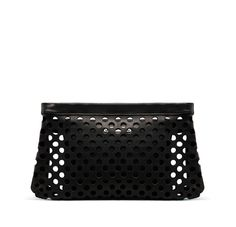 ACNE PERFORATED LEATHER CLUTCH
