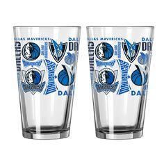 NBA Dallas Mavericks Boelter 16oz Pint Glass 2pk