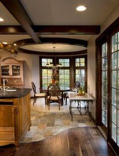 Transition From Tile To Wood Design Ideas, Pictures, Remodel, and Decor - page 4 #kitchenflooring