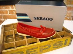 Sebago Felucca Lace RED Leather Tassel Slip-on Loafer Shoe 8.5 New | eBay