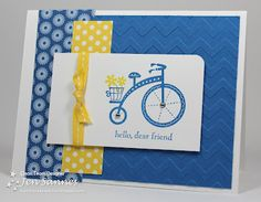Stampin' Up! Card  by Jen Sannes at Simple & Sincere.  thinking of using the new bike stamp from the Spring collection with this color scheme