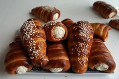 tuuttipullat Pretzel Bites, Sausage, Favorite Recipes, Bread, Food, Eten, Sausages, Bakeries, Meals