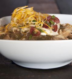 Spicy Green Chicken Chili / @DJ Foodie / DJFoodie.com