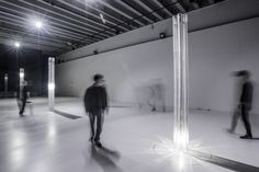 The columns were outfitted with an internal LED luminaire that traversed their height. Neri Oxman, Architectural Scale, 3d Prints, Architecture, Articles, Led, Arquitetura, Architecture Design