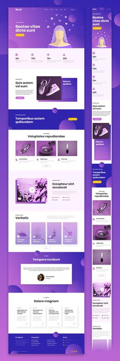 RELAP Responsive Landing Pages by laaqiq on Creative Market - Landing Page - Ideas of Landing Page - RELAP Responsive Landing Pages by laaqiq on Creative Market Ui Design Mobile, Web Ui Design, Creative Web Design, Web Design Trends, Graphic Design, Flat Design, Simple Web Design, Design Design, Design Responsive