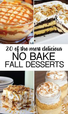 Nothing screams fall more than a good ol' dessert. These No Bake Fall Desserts are some of the all time best. Nothing screams fall more than a good ol' dessert. My favorite kinds to make are no bake desserts because they . Fall Dessert Recipes, Thanksgiving Desserts, No Bake Desserts, Just Desserts, Fall Recipes, Delicious Desserts, Yummy Food, Easy Fall Desserts, Baking Desserts