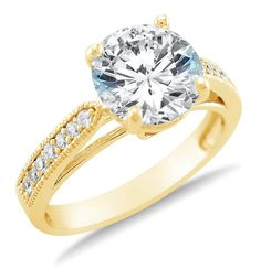 Yellow Gold Cubic Zirconia Wedding Rings. Trend Expensive Wedding Rings