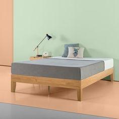 Shop Priage by Zinus 14 Inch Deluxe Solid Wood Platform Bed - On Sale - Overstock - 20637035 Solid Wood Platform Bed, Platform Bed Frame, Upholstered Platform Bed, Mattress Sets, Mattress Springs, Foam Mattress, Kids Mattress, Adjustable Beds, Wood Slats