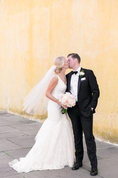 Adorable couple: http://www.stylemepretty.com/south-carolina-weddings/charleston/2016/04/28/a-classic-charleston-wedding-straight-out-of-a-magazine/ | Photography: Dana Cubbage - http://danacubbageweddings.com/