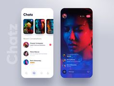 Chatz app UI designed by vijay verma for Orizon: UI/UX Design Agency. Connect with them on Dribbble; the global community for designers and creative professionals. Android App Design, App Ui Design, Interface Design, Web Design, User Interface, Graphic Design, Ui Color, App Design Inspiration, Mobile Ui Design