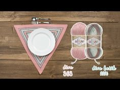 Alize Diva Batik ile Supla Yapımı - Service Plate with Alize Diva Batik - YouTube