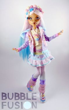 Kyandi Ooak Monster High Art Doll by BubbleFusion on Etsy