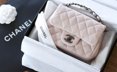 16C Baby Pink Chanel Mini Flap in Caviar Leather and ruthenium hardware - Chanel Cruise Collection 2016.