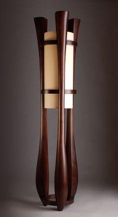 """Chronos"" three legged walnut floor lamp (custommade.com)"