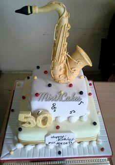 Edible Saxaphone Cake Toppers