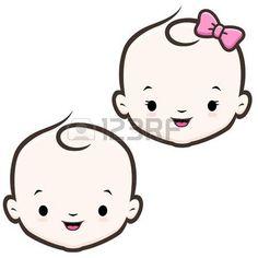 Cartoon icon vector baby face for design element Stock Vector - 48174803 Easy Cartoon Drawings, Cartoon Icons, Bebe Vector, Baby Face Drawing, Baby Illustration, Face Images, Boy Face, Kids Logo, Baby Cartoon