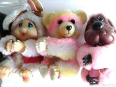 Antiguos muñecos cuatro Virkiki pinza