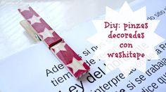 Pinzas decoradas con washitape- El rincón de las cosas bonitas